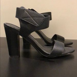 Aldo Black Leather Heels